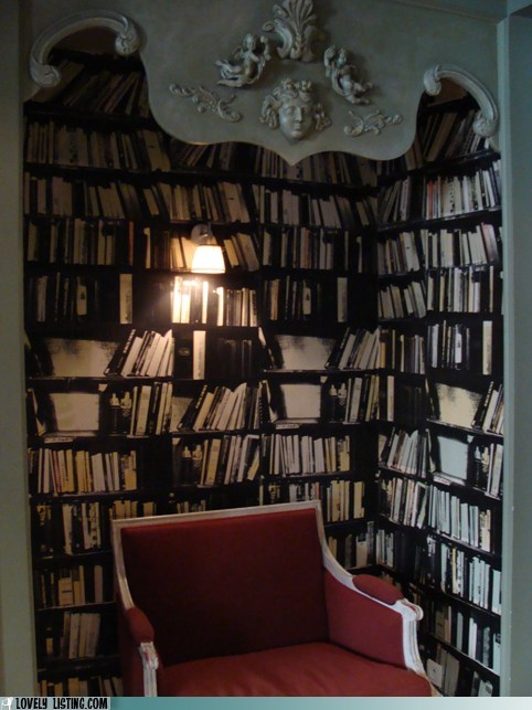 best of the week,bookcase,chair,nook