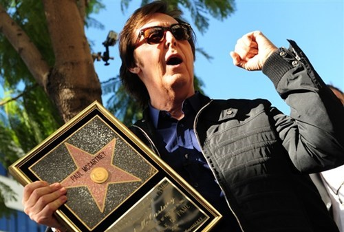 Paul McCartney Gets a Walk of Fame Star of the Day
