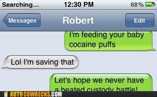 auto correct,baby,cocaine,coco puffs,drugs,parenting