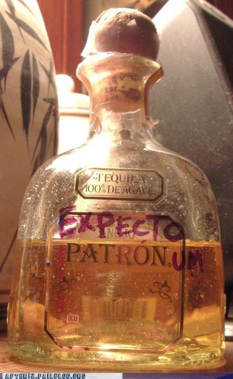 after 12,expecto patronum,g rated,Harry Potter,patron,tequila