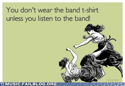 Rules of Band Shirts