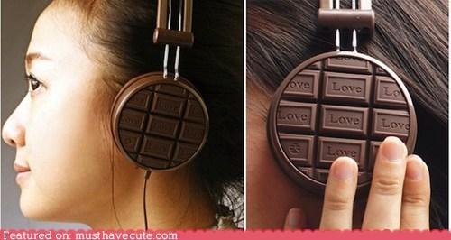 chocolate,electronics,headphones,Music,scented