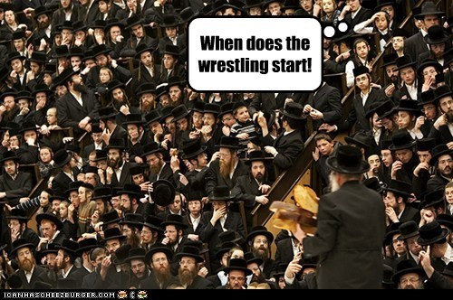 When does the wrestling start!