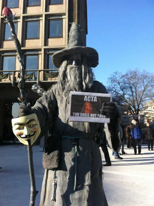 One Does Not Simply Protest ACTA of the Day