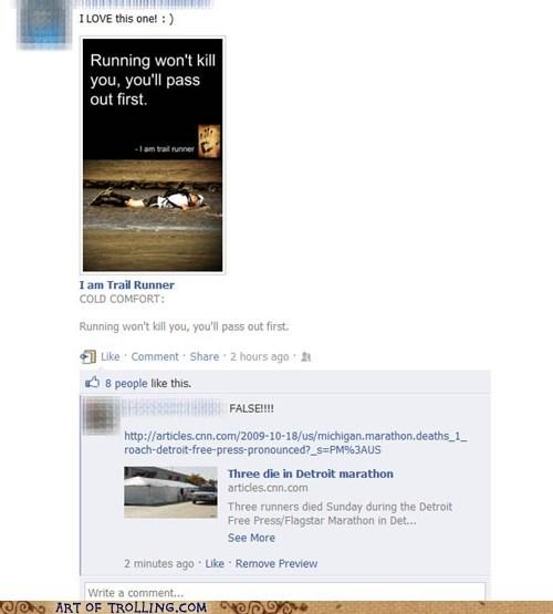 Death,facebook,facts,running
