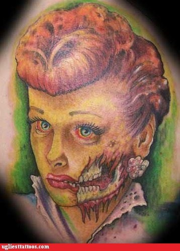 Tattoo WIN: I love (Zombie) Lucy
