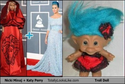 Nicki Minaj + Katy Perry Totally Looks Like Troll Doll
