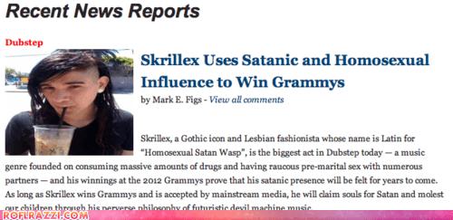 funny,Grammys,news,skrillex