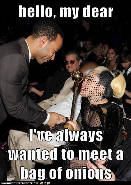 fashion,grammy awards,Grammys,john legend,lady gaga,onions