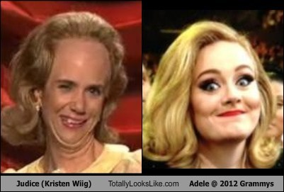 Judice (Kristen Wiig) Totally Looks Like Adele @ 2012 Grammys