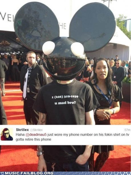 Deadmau5 Achieves Maximum Trolling at the 2012 Grammys