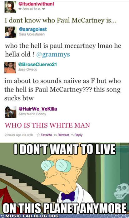 beatles,Grammys,Hall of Fame,i dont want to live on this planet anymore,paul mccartney,the Beatles,twitter