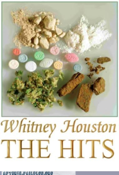 drugs,hits,too soon,whitney houston