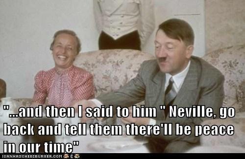 adolf hitler,neville chamberlain,political pictures,world war II