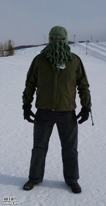 cthulhu,g rated,mask,ski mask,skiing,win,winter