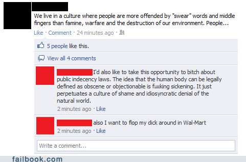 nudity,offensive,swearing,witty reply