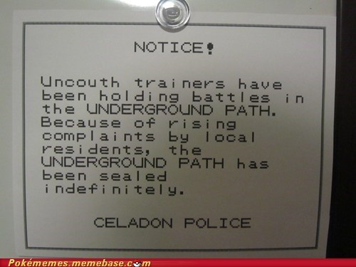 awesome,celadon,i-dont-think-anyone-read,IRL,notice,underground path