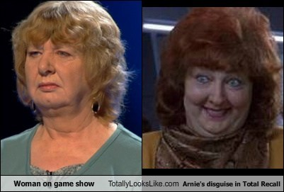 Woman On Game Show Totally Looks Like Arnie's Disguise In Total Recall
