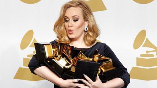 Adele Takes A Break of the Day