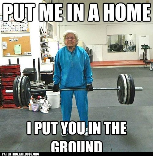Grandma Goes Out the Way She Wants To