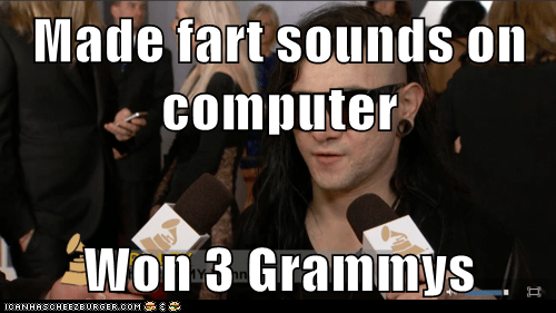 Made fart sounds on computer  Won 3 Grammys