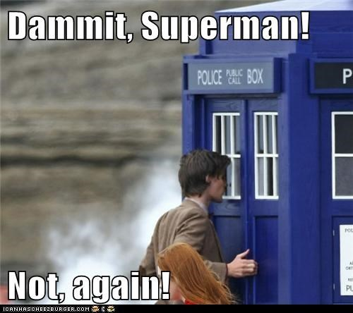 changing,doctor who,Matt Smith,phone booth,superman,tardis,the doctor