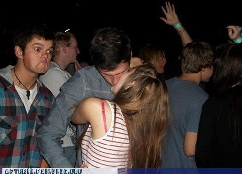 dance floor,makeout,making out,not bad,photobomb