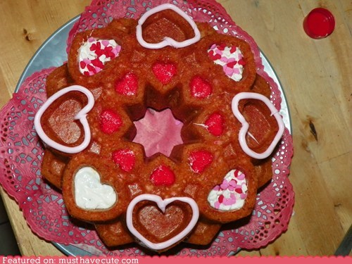 cake,epicute,hearts,love,mold,Valentines day