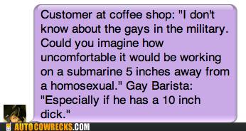 barista,boner,coffee shop,erection,gay,homophobia,homosexual