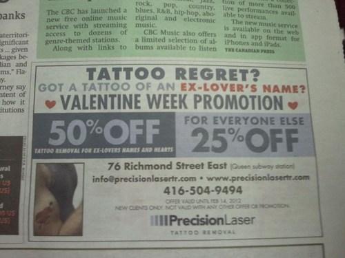 name tattoos,tattoo regret,Valentines day