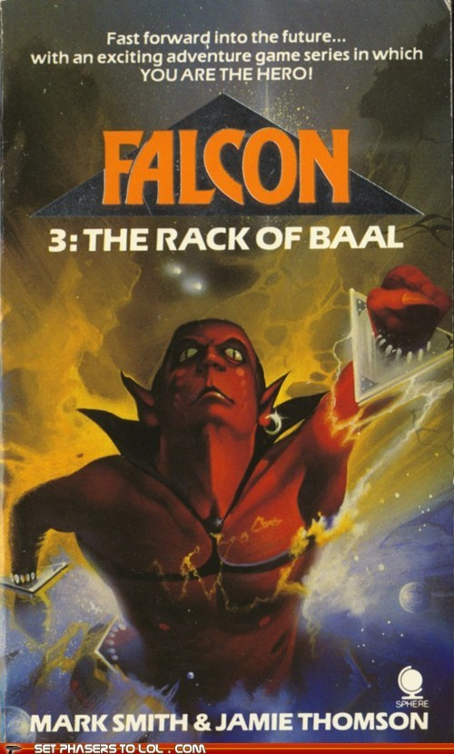 WTF Sci-Fi Book Covers Falcon 3: The Rack of Baal