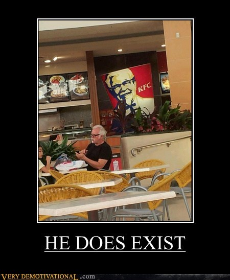 colonel sanders,exist,hilarious,kfc