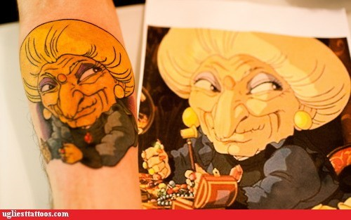 Ugliest Tattoos: Tattoo WIN: With the New Studio Ghibli Film Releasing Today, Thought This Would Be Appropriate
