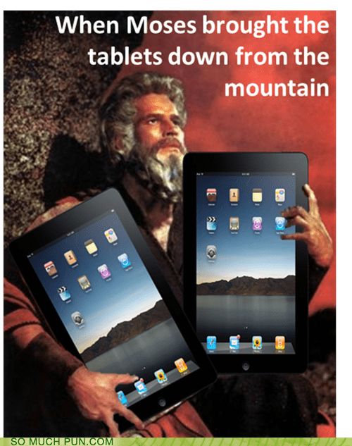 double meaning,down,Hall of Fame,ipad,literalism,moses,mountain,story,tablet,tablets,ten commandments