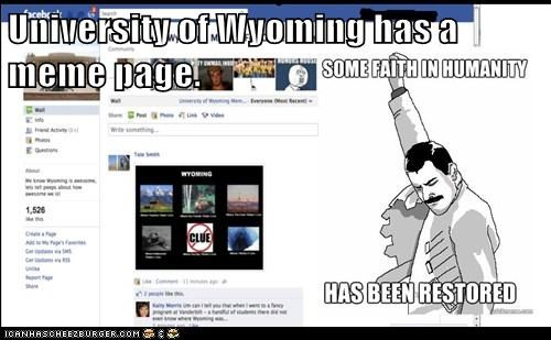 University of Wyoming has a meme page.