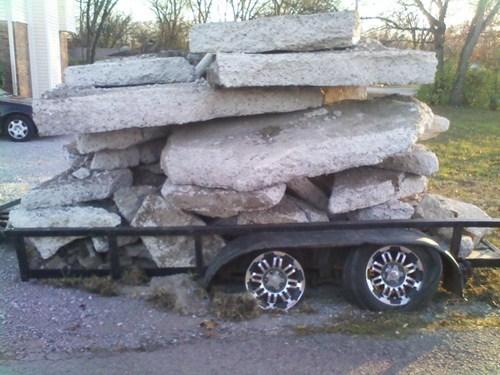 heavy duty,rocks,trailers