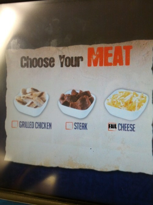 Vegetarian Option FAIL