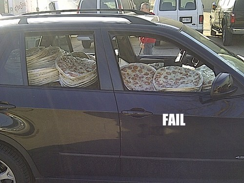 Hygienic Pizza Delivery FAIL