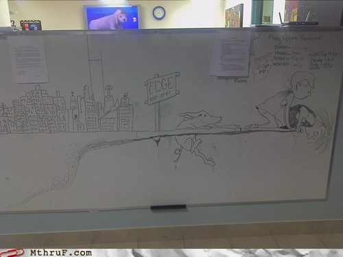 Office Art: Sidewalk to the end of the Whiteboard