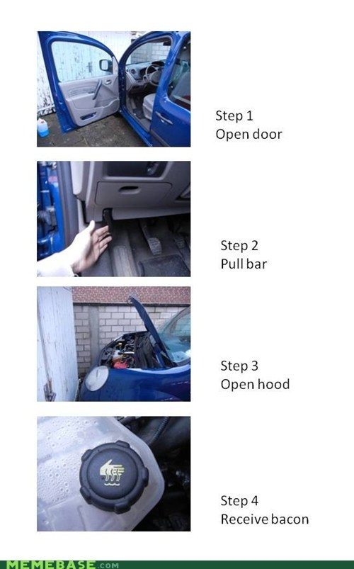 How to Find Bacon in a Car
