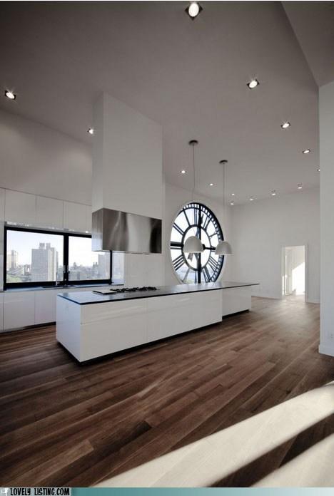 apartment,brooklyn,clock,kitchen,window