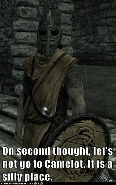 camelot,guard,monty python and the holy grail,silly,Skyrim,the elder scrolls