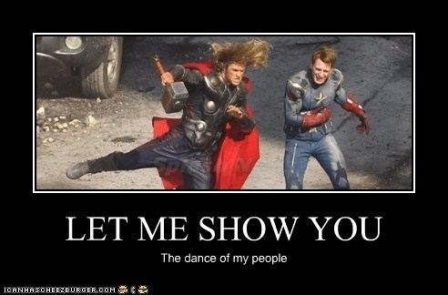 avengers,chris evans,chris hemsworth,Dance Of My People,let me show you it,mjolnir
