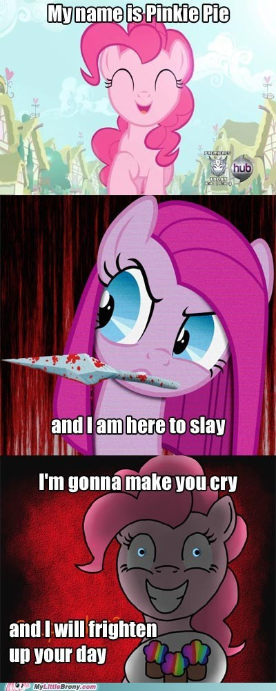 Pinkie Pie's smile song with new text