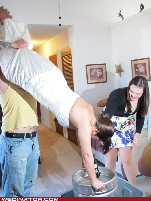 beer,bride,classy,Party,relax,keg stand
