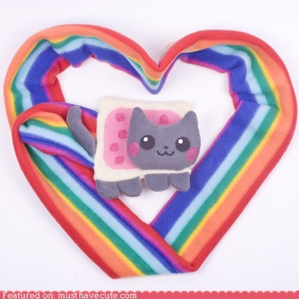 best of the week,cat,Nyan Cat,pop tart,rainbow,scarf