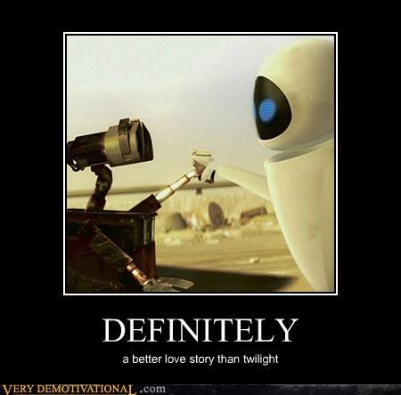 definitely,hilarious,love story wall-e,twilight