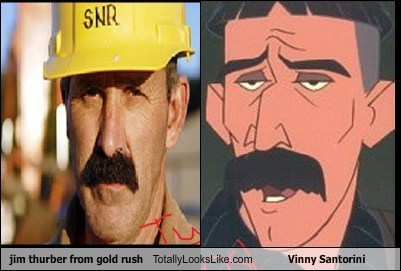 Jim Thurber from Gold Rush Totally Looks Like Vinny Santorini
