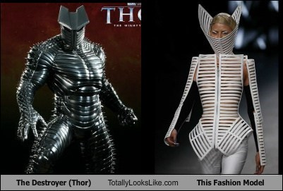 The Destroyer (Thor) Totally Looks Like This Fashion Model