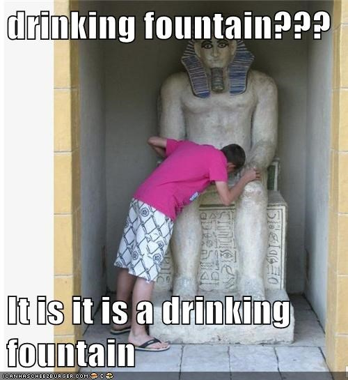 drinking fountain???  It is it is a drinking fountain